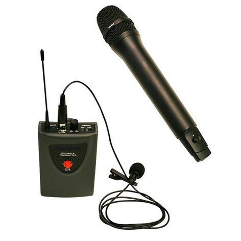 AmpliVox SW800 100W Portable PA System with UHF Wireless, CD Player and Bluetooth SW800