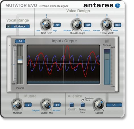 Antares MUTATOR-EVO Extreme Voice Designer Plug-in (Mac/PC) MUTATOR-EVO