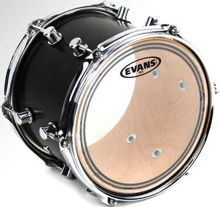"Evans TT18EC2S 18"" EC2 Clear Drum Head with Sound Shaping Ring TT18EC2S"