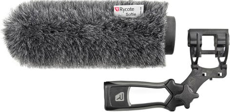 Rycote 033352 18 cm Softie Windscreen with Medium Hole, Mount & Pistol Grip 033352