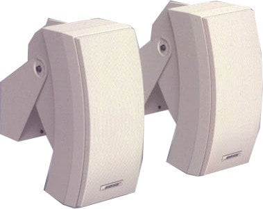 "Bose 302A Pair of 5.7"" 200W 70/100V Pannaray Commercial Loudspeakers in White 302A-WHITE"