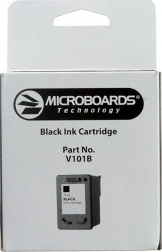 Microboards V101B 19 mL Black Ink Cartridge for PF3, CX1 Disc Printers V101B