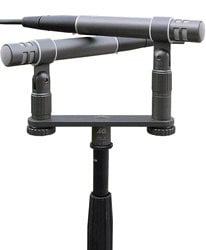 Microtech Gefell M300-STEREO Stereo XY/ORTF Pair of M300 Microphones with Stereo Bar, Adapter, Clips, & Case M300-STEREO