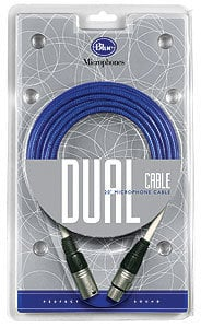 Blue Microphones Dual Cable 20 ft Microphone Cable for Baby Bottle , Bluebird , Blueberry Microphones DUAL-CABLE