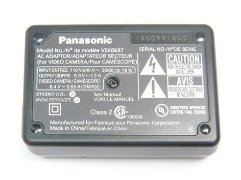 Panasonic DE-A51BB/S Panasonic Camcorder Power Adapter DE-A51BB/S