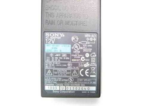 Sony 1-468-626-67 Sony Camera/Controller AC Adapter 146862668