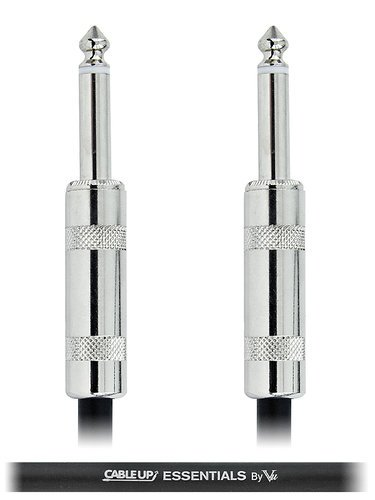 """Cable Up by Vu PM2-PM2-ES-10 10 ft 1/4"""" TS Male to 1/4"""" TS Male Unbalanced Cable with Silver Contacts PM2-PM2-ES-10"""
