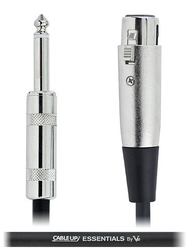 """Cable Up by Vu XF3-PM2-ES-10 10 ft XLR Female to 1/4"""" TS Male Unbalanced Cable with Silver Contacts XF3-PM2-ES-10"""