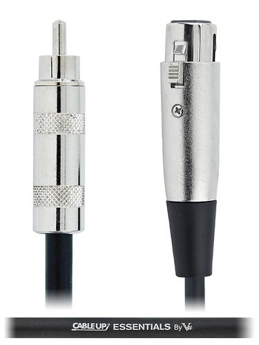 Cable Up by Vu XF3-RM-ES-2 2 ft XLR Female to RCA Male Unbalanced Cable with Silver Contacts XF3-RM-ES-2