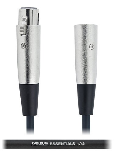 Cable Up by Vu XF3-XM3-ES-1 1 ft XLR Male to XLR Female Balanced Microphone Cable XF3-XM3-ES-1