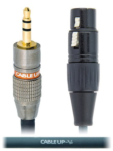 """Cable Up by Vu M3-XF3-1 1 ft 1/8"""" TRS Male to XLR Female Balanced Cable M3-XF3-1"""