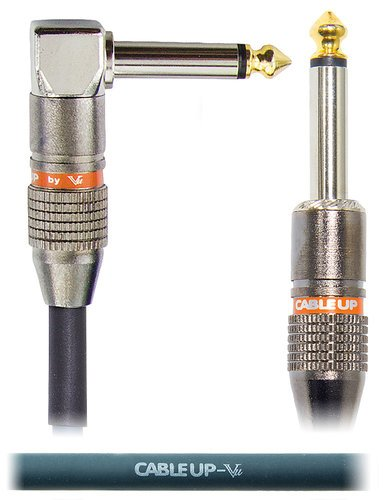 """Cable Up by Vu PM2-PM2R-50 50 ft 1/4"""" Right Angle TS Male to 1/4"""" Straight TS Male Cable PM2-PM2R-50"""