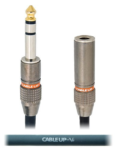 """Cable Up by Vu PM3-PF3-50 50 ft 1/4"""" TRS Male to 1/4"""" TRS Female Balanced Headphone Extension Cable PM3-PF3-50"""