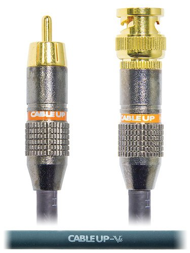 Cable Up by Vu RM-BNC-100 100 ft 75 Ohm RCA Male to BNC Video Cable RM-BNC-100