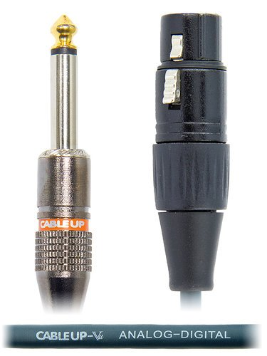 """Cable Up by Vu XF3-PM2-25 25 ft XLR Female to 1/4"""" TS Male Unbalanced Cable XF3-PM2-25"""