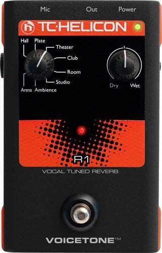 TC Helicon VoiceTone R1 Voice Tuned Reverb Pedal VOICETONE-R1