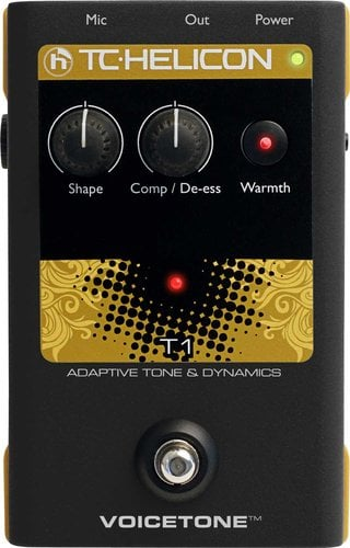 TC Helicon VOICETONE-T1 Pedal, Voice Tone and Dynamics VOICETONE-T1