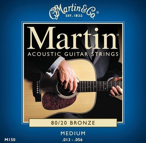 Martin Strings M150 Martin 80/20 Bronze Acoustic Guitar Strings - Medium M150
