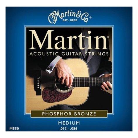 Martin Strings M550-MARTIN Medium Phosphor Bronze Acoustic Guitar Strings M550-MARTIN