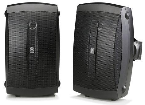 Yamaha NS-AW150 2 Way Outdoor Speakers, Pair, Black NS-AW150