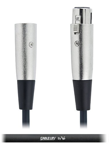 Cable Up by Vu DMX-XX3-0.5 6-inch 3-Pin DMX Male to 3-Pin DMX Female Cable DMX-XX3-0.5