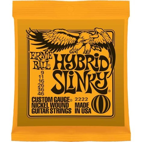 Ernie Ball P02222 Hybrid Slinky Nickel Wound Electric Guitar Strings P02222