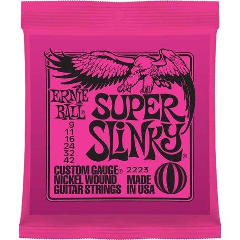 Ernie Ball P02223 Super Slinky Nickel Wound Electric Guitar Strings P02223