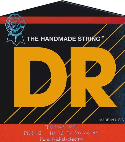 DR Strings PHR10 Medium Pure Blues Electric Guitar Strings PHR10