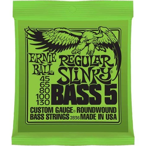 Ernie Ball P02836 Regular Slinky 5-String Electric Bass Strings P02836
