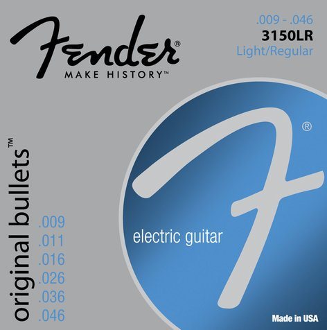 Fender 3150LR Light/Regular Pure Nickel Bullets Electric Guitar Strings 3150LR