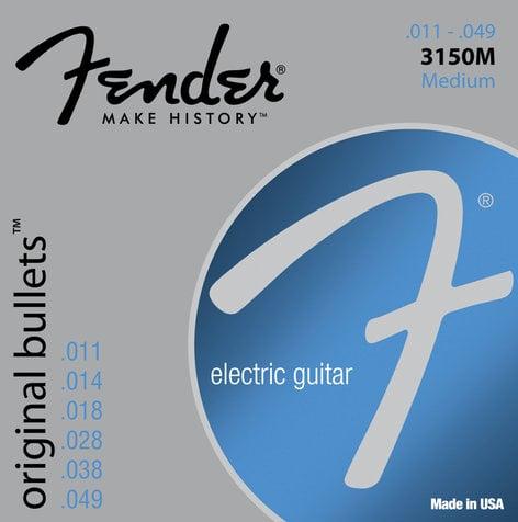 Fender 3150M Medium Pure Nickel Bullets Electric Guitar Strings 3150M