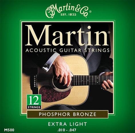 Martin Strings M500 12 String Phosphor Bronze Extra Light Phosphor Bronze 12-String Acousitc Guitar Strings M500-MARTIN
