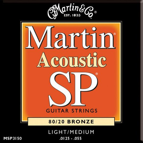 Martin Strings MSP3150 Light/Medium SP 80/20 Acoustic Guitar Strings MSP3150