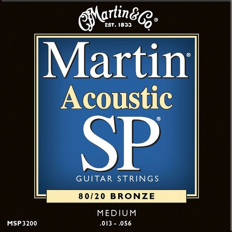 Martin Strings MSP3200 Medium Martin SP 80/20 Acoustic Guitar Strings MSP3200