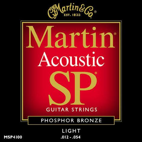 Martin Strings MSP4100 Light Martin SP Phosphor Bronze Acoustic Guitar Strings MSP4100