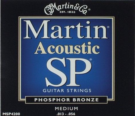 Martin Strings MSP4200 Medium Martin SP Phosphor Bronze Acoustic Guitar Strings MSP4200