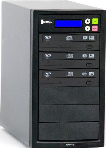 Recordex USA Inc. DVD300H CD/DVD Duplicator with 3 Target Drives, 250 GB Hard Drive DVD300H