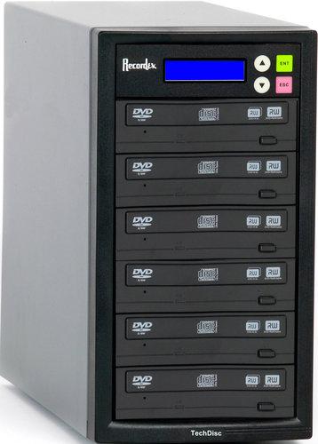Recordex USA Inc. DVD500 CD/DVD Duplicator with 5 Target Drives DVD500