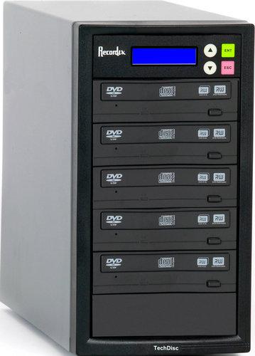 Recordex USA Inc. DVD500H CD/DVD Duplicator with 5 Target Drives, 250 GB Hard Drive DVD500H