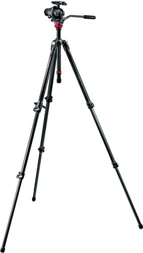 Manfrotto 755CX3-M8Q5  3-Stage 755CX3 Carbon Fiber Tripod with MH055M8-Q5 Photo-Movie Camera Head 755CX3-M8Q5