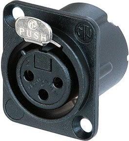 Neutrik NC3FD-LX-HA-BAG  DLX Series Black 3-Pole Female XLR Panel Connector with Crimp Termination & Silver Contacts NC3FD-LX-HA-BAG