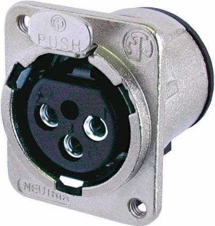 Neutrik NC3FDM3-V  D Series 3-Pin XLR Female Panel Connector NC3FDM3-V