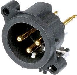 Neutrik NC3MAV  A Series 3-Pin Male XLR PCB Mount Panel Connector NC3MAV