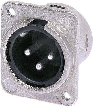 Neutrik NC3MDM3-L-1  XLR-M Connector with M3 Mounting Holes NC3MDM3-L-1