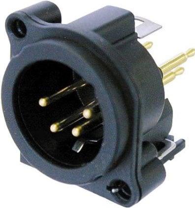 Neutrik NC4MAV  4-Pin XLR Male A-Series PCB mount Panel Connector NC4MAV