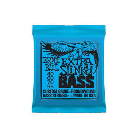 Ernie Ball P02835 Custom Gauge Extra Slinky Electric Bass Strings P02835