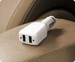 RadTech AUTO-POWER  In-Vehicle Dual USB iPod & iPhone Car Charger, 5v, 500mA output AUTO-POWER