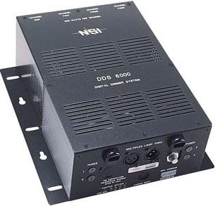 Leviton N6000-D00 4-Channel, 1200W/CH Dimmer/Relay System with DMX Installed, 15 A Power Supply Cord N6000-D00