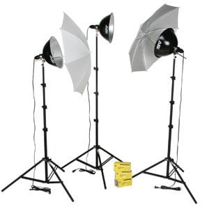 Smith Victor Corp KT1500U 1500W, 3-Light, Intermediate Lighting Kit  (401433) KT1500U