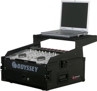 Odyssey FRGS802BL  Black Label Flight-Ready Glide-Style Combo Rack, 10 RU Slanted, 2 RU Vertical FRGS802BL